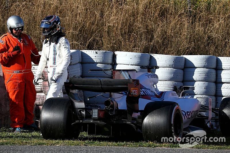 F1-Test Barcelona: Williams bricht nach Crash von Stroll vorzeitig ab