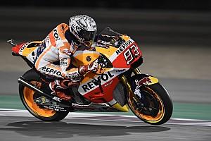 MotoGP Reporte de pruebas Márquez lidera el warm up en Qatar antes de caerse
