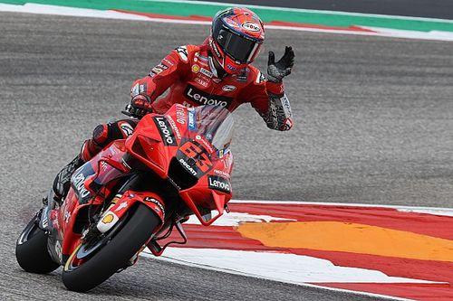 "MotoGP: Bagnaia dedica pole em Austin ao ""professor"" Miller"