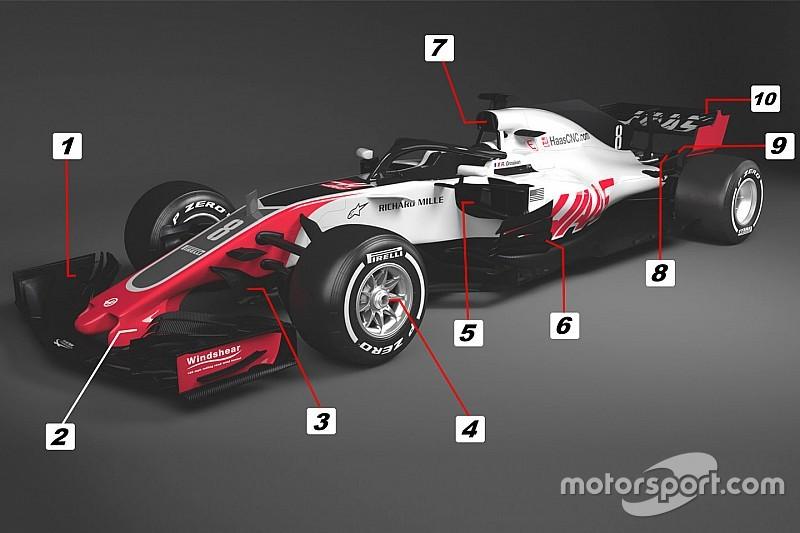 Технический анализ: 10 примечательных решений Haas VF-18