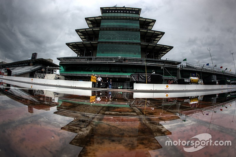 Rain cancels Cup qualifying at Indianapolis; Kyle Busch on pole