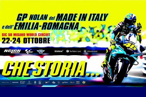 """Misano, il poster della grande festa di Rossi: """"Che storia..."""""""