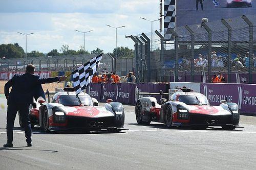 ル・マン24時間ワンツーのトヨタ日本人コンビが凱旋会見。「最終コーナーまで気が抜けなかった」と小林可夢偉