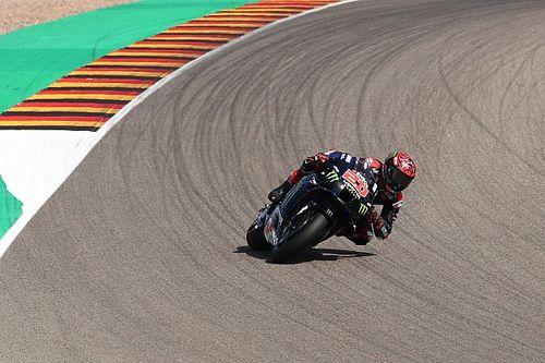 Quartararo topt warm-up GP van Duitsland, crash Aleix Espargaro