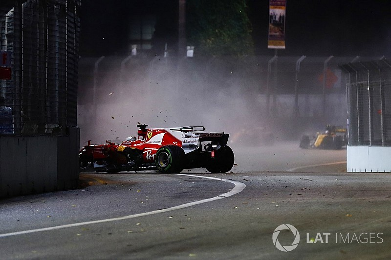 "Sebastian Vettel nach F1-Crash in Singapur: ""Echt blöd gelaufen"""