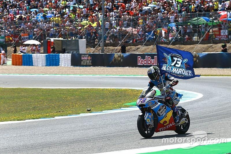 Moto2 Spanyol: Marquez akhirnya menang, Morbidelli terjatuh