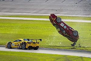 Тройной переворот: авария в Ferrari Challenge