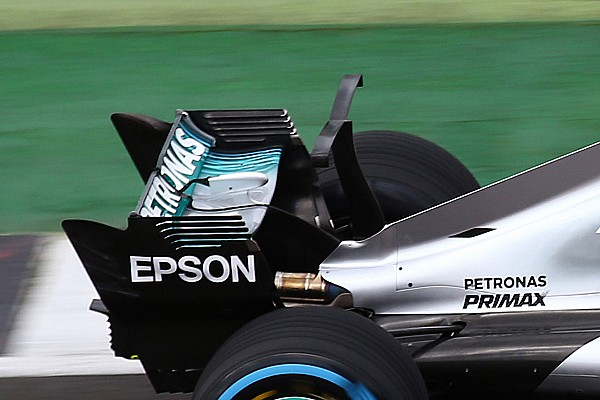 Formula 1 Breaking news Mercedes undecided on full shark fin after testing T-wing