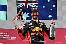 Ricciardo es más feliz con el podio en Austria que la victoria de Bakú