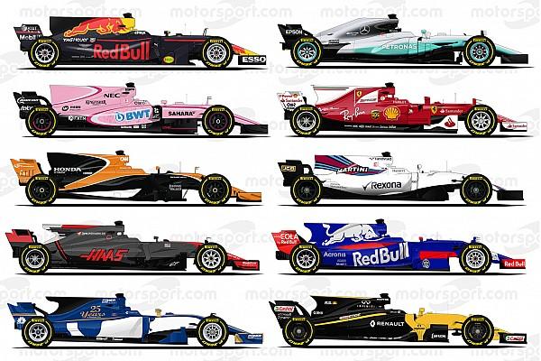 Формула 1 Анонс Акулы в профиль. Все машины Формулы 1 сезона-2017