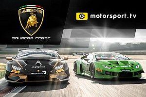 Lamborghini Squadra Corse tendrá su canal exclusivo en Motorsport tv