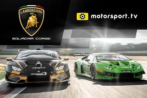 Lamborghini Squadra Corse lanceert eigen kanaal op Motorsport.tv
