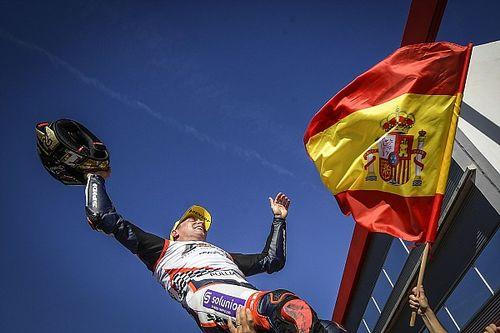 La celebración de Albert Arenas, 21º español campeón del mundo