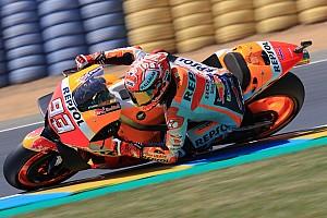 MotoGP Antrenman raporu MotoGP Le Mans: Isınma turlarında Marquez lider
