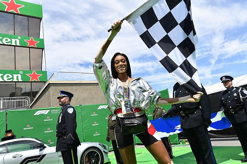 Peinlich: Kanadisches Model winkt Rennen zu früh ab!