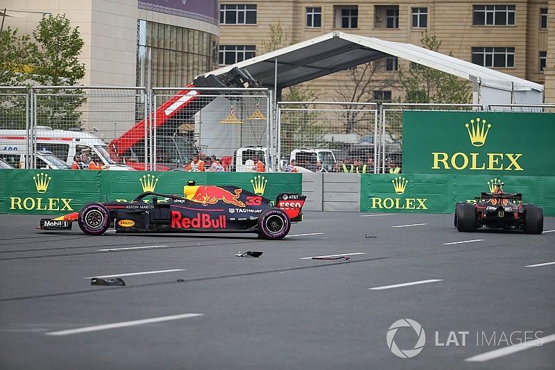 Verstappen: No falling out with Ricciardo over Baku crash