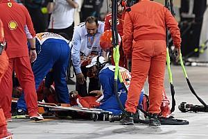 فيراري تشكر السلطات البحرينية على تقديم أفضل رعاية للميكانيكي المصاب