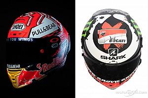 MotoGP Galería GALERÍA: los nuevos cascos de Márquez y Lorenzo