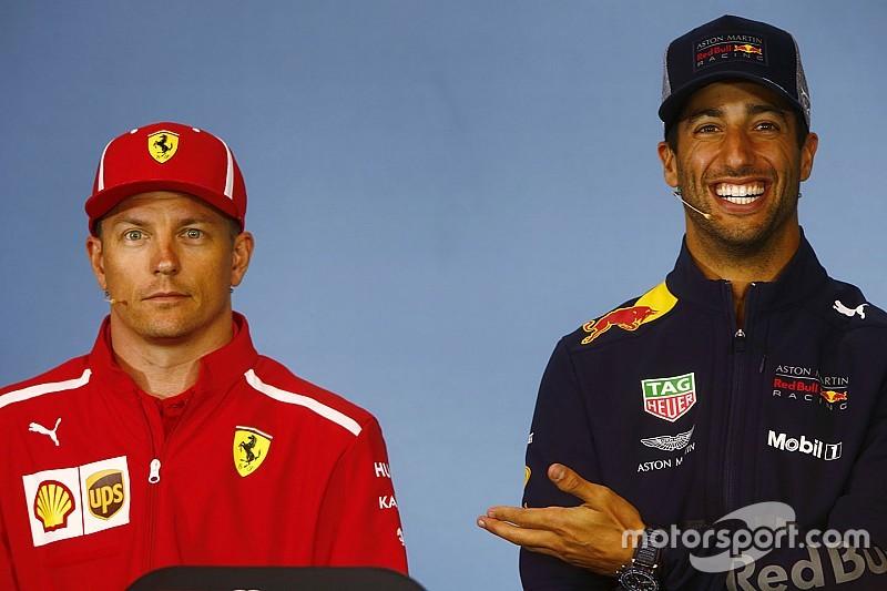 Ricciardo verrast dat Raikkonen niet met pensioen gaat