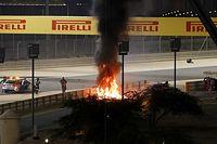 """Verstappen sobre acidente """"assustador"""" de Grosjean: """"Vi bandeira vermelha e muito fogo"""""""