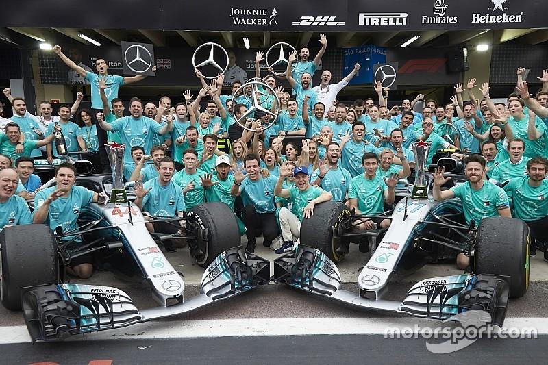 Mercedes n'a plus utilisé ses jantes perforées pour assurer ses titres