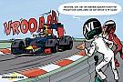 Cartoon van Cirebox - Verstappen inhalen wordt nóg moeilijker