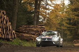 WRC Leg report Wales WRC: Tanak chasing Ogier, Mikkelsen hits trouble