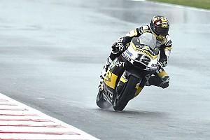 Moto2 Prove libere Aragon, Libere 1: Luthi riparte forte sul bagnato e precede Pasini