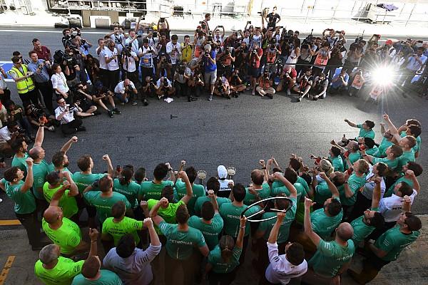 Story behind the photo: Hamilton's flashy victory celebrations