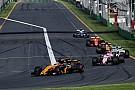 Avustralya GP boyunca geçiş yapmak nerdeyse imkansızdı