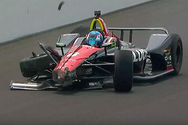 VÍDEO: Wickens bate durante treino para a Indy 500