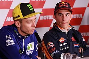 """MotoGP Últimas notícias Márquez: """"Espero que Rossi não siga melhorando com os anos"""""""