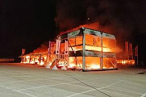 Серия MotoE сгорела. Пожар уничтожил все байки во время тестов в Хересе