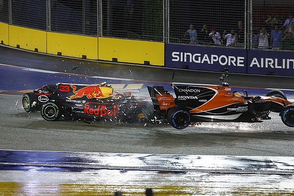 Startcrash bei F1 in Singapur: Vettel, Verstappen, Räikkönen raus