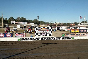 World of Outlaws Breaking news Three injured after car goes into stands at Volusia Speedway Park