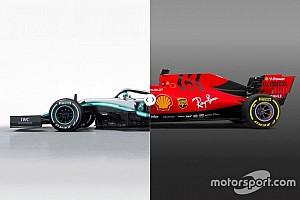 La comparación visual de los tres coches llamados a la gloria de la F1