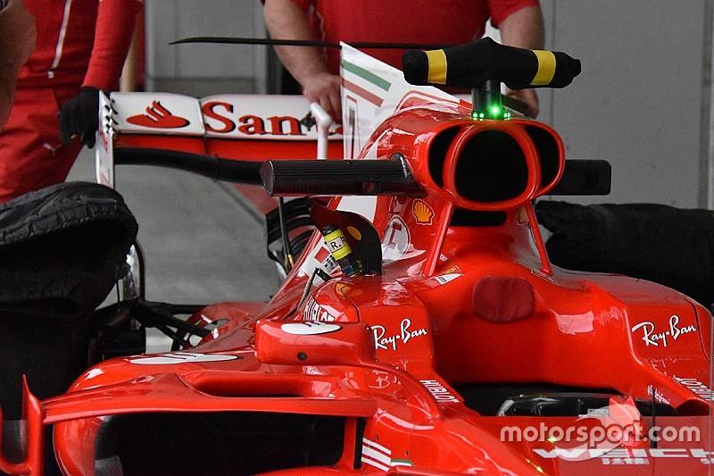 Ferrari: ala posteriore a cucchiaio e termo-camera sulla SF70H di Kimi