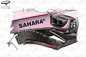 Formel 1 Analyse Formel-1-Technik: So optimierte Force India in Bahrain den VJM10