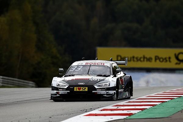 DTM Reporte de la carrera Rene Rast se encuentra la victoria en Spielberg en otro triplete de Audi