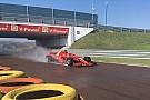 Formula 1 Giovinazzi a Fiorano sulla Ferrari SF70H per il test Pirelli sul bagnato