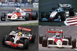 Усі боліди McLaren від MP4/1 до MP4-31