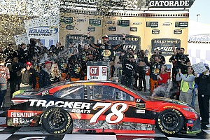 NASCAR Cup Race report Truex takes emotional win for Furniture Row Racing at Kansas