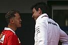 Formula 1 Vettel, Mercedes'in önemli isimleriyle kayak turnuvasını izlemiş