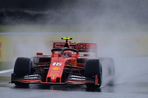 Leclerc probó los Pirelli de 18 pulgadas para lluvia en Jerez