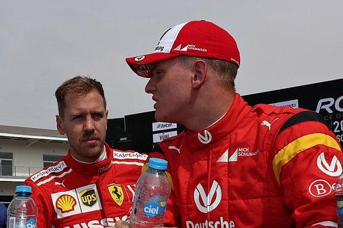 """Vettel diz que Mick Schumacher terá que """"encontrar seu próprio caminho"""" na F1"""