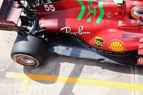 Ferrari: Sainz ha provato un fondo con lo scalino sulla SF21