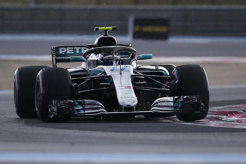 法国大奖赛FP3:博塔斯雨中占据首位