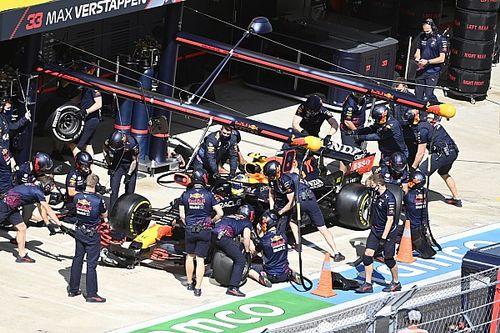 Red Bull explicó qué falló en el pitstop de Sergio Pérez en Rusia