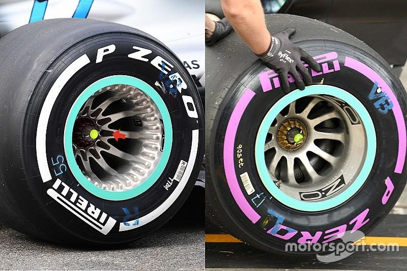 El diseño de ruedas de Mercedes recibe la aprobación de la FIA tras las dudas de Ferrari