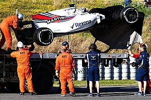 Williams uncertain of running on Thursday after Stroll crash